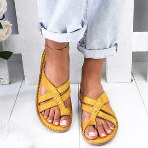 Women Shoes Retro Gladiator Sandals Summer Ladies Casual Clip Toe Slippers Outdoor Beach Female Wedges Slides Ladies Shoes 2020