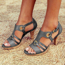 Load image into Gallery viewer, Buckle Strap Sandals Women 2020 Sandals Female Bohemian Style Summer Fashion High Heels Women's Shoes