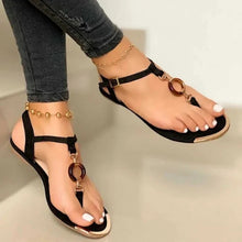 Load image into Gallery viewer, 2020 new women summer sandals flip flops fashion buckle open toe sexy women flats shoes casual beach ladies plus size sandals