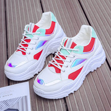 Load image into Gallery viewer, Women Casual Shoes Platform Sneakers Women Trainners White Sneakers Breathable Mesh Women Shoes Tenis Feminino Basket Femme