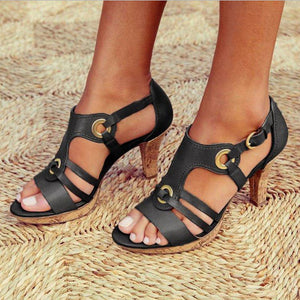 Buckle Strap Sandals Women 2020 Sandals Female Bohemian Style Summer Fashion High Heels Women's Shoes