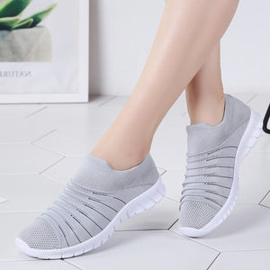 BRKWLYZ Sneakers Women Flats Shoes Summer Breathable Flying Weaving Casual Shoes Woman Slip-on creepers moccasins Ladies Shoes