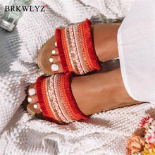 Load image into Gallery viewer, Women slippers 2020 summer new Rome Retro sandals flat casual shoes female slip on slides woman shoes plus size Sandalias mujer