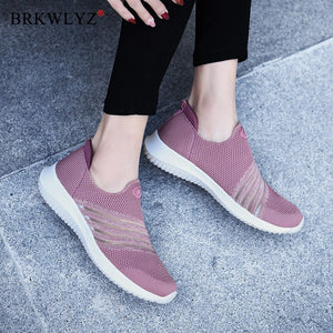 BRKWLYZ 2020 New Fashion Flats Women Shoes Breathable Summer Mesh Casual Shoes Woman Slip-on Flats Moccasins Ladies Ballet Shoes