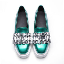 Load image into Gallery viewer, 2020 Pearly Lustre Rhinestone Women Flats Shoes 2019 Spring Fashion  Lady Loafers Ladies Slip on retro Platform single Shoes