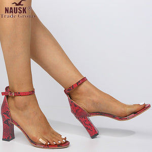 NAUSK 2020 Summer Women's Sandals Elastic Band Thin High Heels Woman Ankle Strap Heel Ladies Sandals Female Solid Fashion