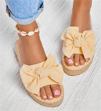 Load image into Gallery viewer, Women Bowknot Slippers 2020 Summer Casual Beach Muffin Slip On Platform Ladies Sandals Dress Party Peep Toe Female Sandals