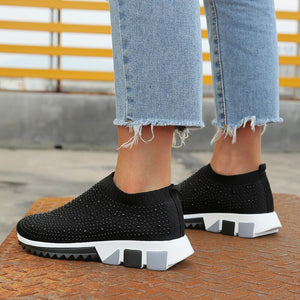 New Sneakers Women Shoes Light Breathable Casual Shoes Woman Fashion Height Increasing Ladies Socks Shoes Women Flats Size35-43