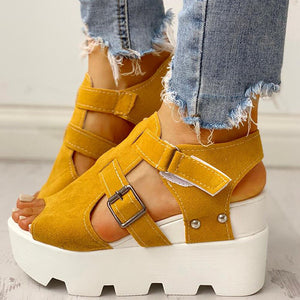 2020 Fashion Summer Platform Wedge High Heels Casual Comfortable Light Leisure Shoes Woman Sandals Women Shoes Female