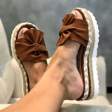 Load image into Gallery viewer, Summer Fashion Sandals Shoes Women Bow Summer Sandals Slipper Indoor Outdoor Flip-flops Beach Shoes Female Slippers