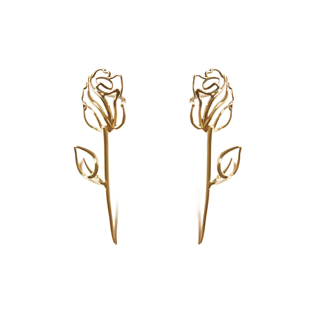 EACH Rosalie Earrings in Gold Featured on WOMANBOSS