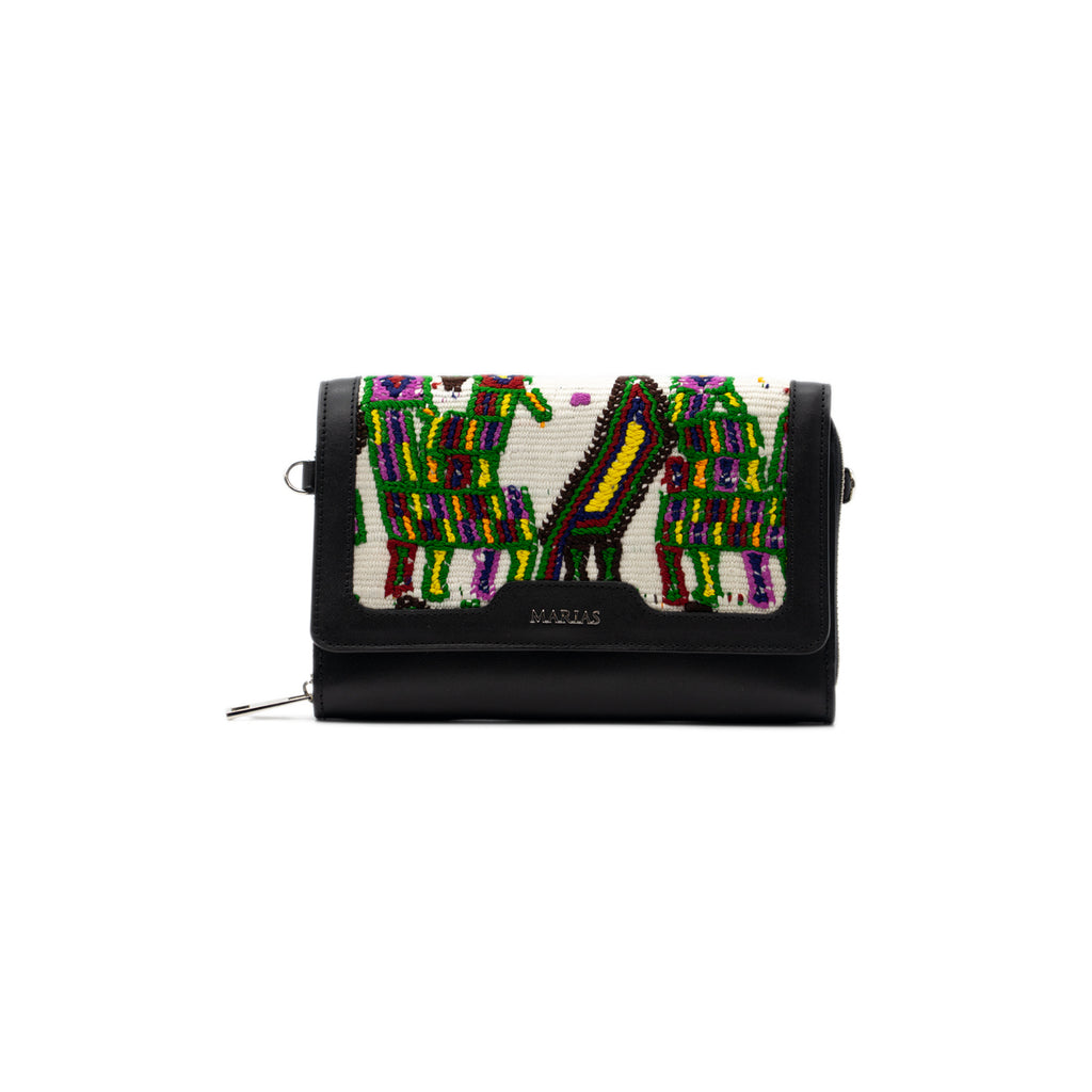 Marias Bag Belita Wallet in Black Leather with Silver Featured on WOMANBOSS