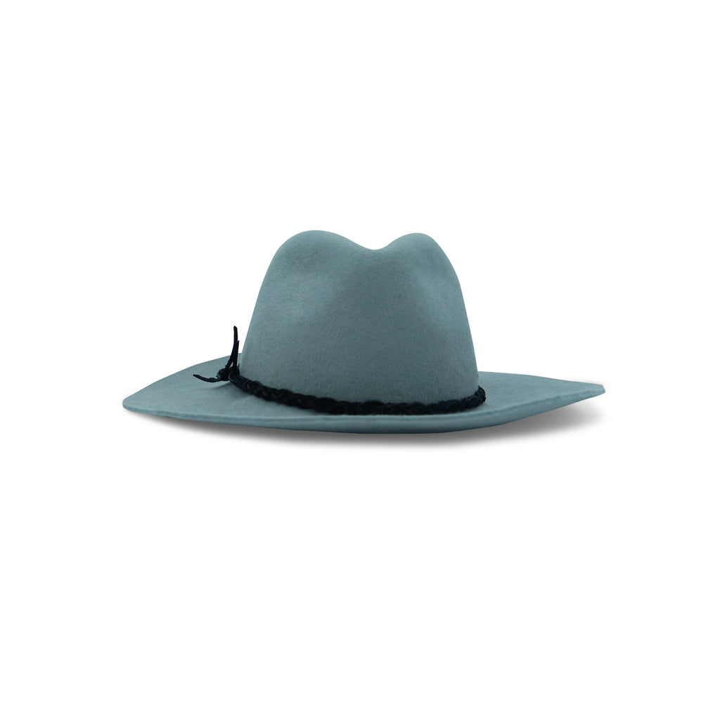 Really Roots Grey Rabbit Fur Felt Fedora Featured on WOMANBOSS