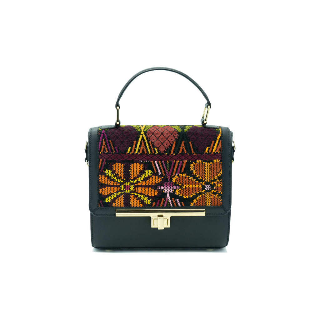 Marias Bag Sofia Mini Domina in Black Leather with Gold Featured on WOMANBOSS