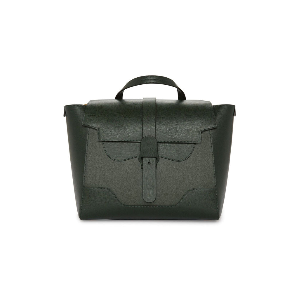 Senreve Maestra Womens Italian Leather Handbag in Suede Forest Green Featured on WOMANBOSS