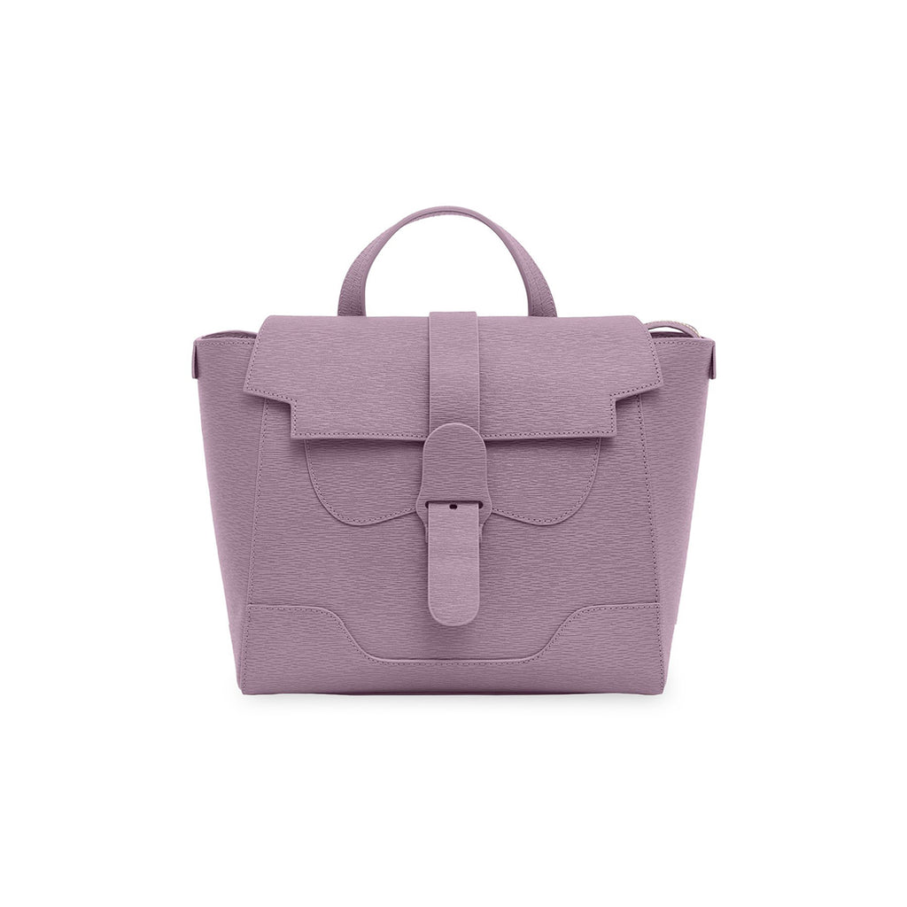 Senreve Midi Womens Italian Leather Handbag in Mimosa Lilac Featured on WOMANBOSS