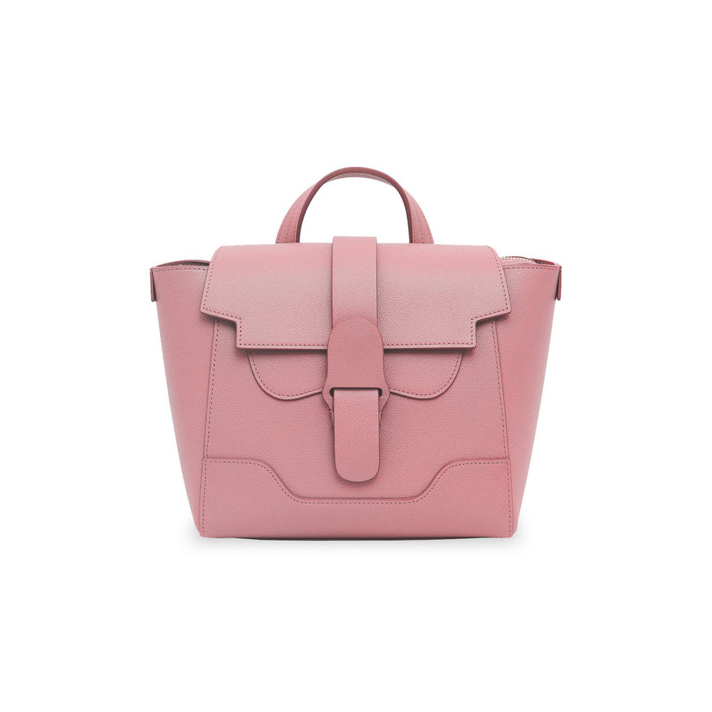 Senreve Midi Womens Italian Leather Handbag in Pebbled Mauve Featured on WOMANBOSS