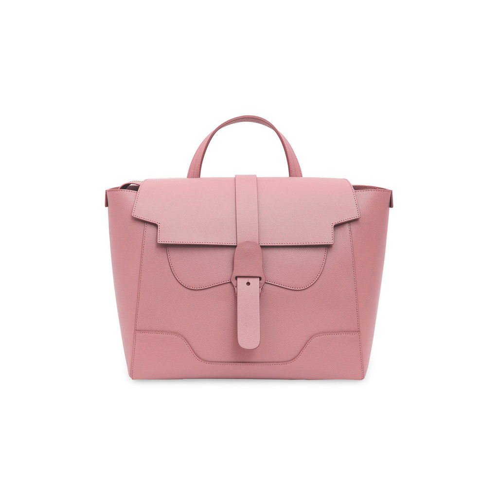 Senreve Maestra Womens Italian Leather Handbag in Pebbled Mauve Featured on WOMANBOSS