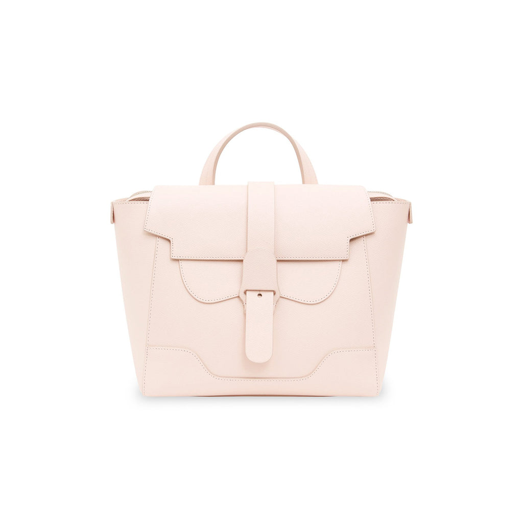 Senreve Midi Womens Italian Leather Handbag in Pebbled Blush Featured on WOMANBOSS