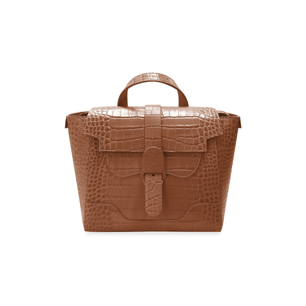 Senreve Midi Womens Italian Leather Handbag in Dragon Chestnut Featured on WOMANBOSS