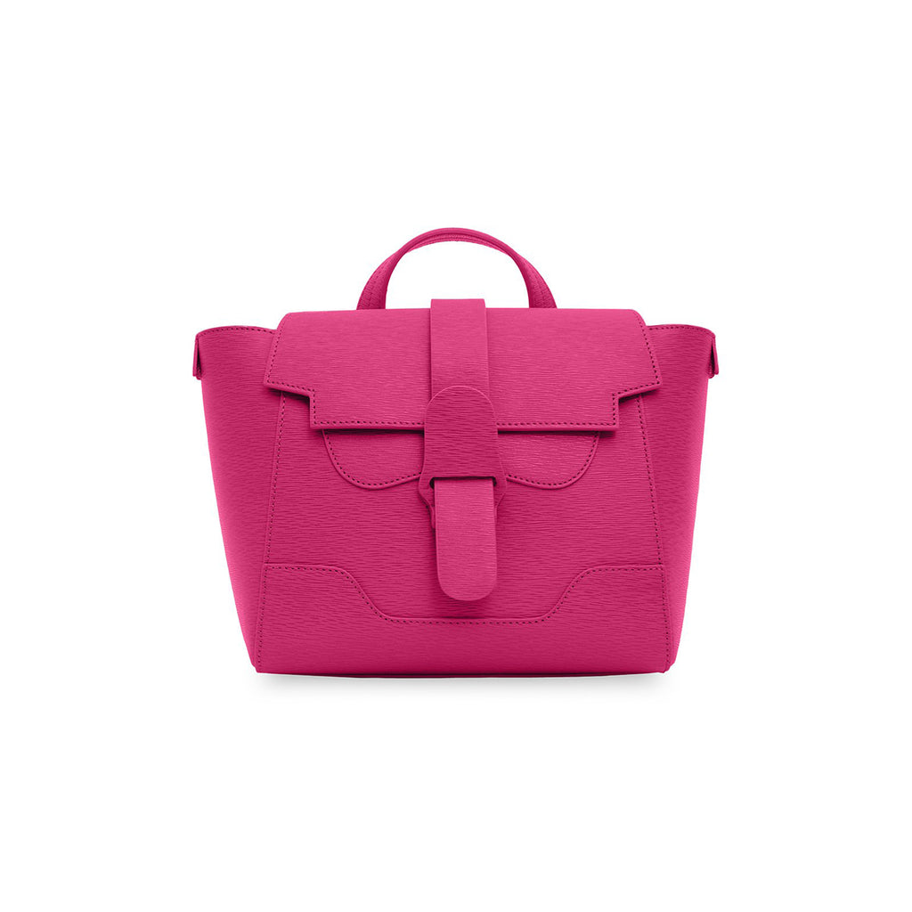 Senreve Mini Womens Italian Leather Handbag in Mimosa Fuchsia Featured on WOMANBOSS
