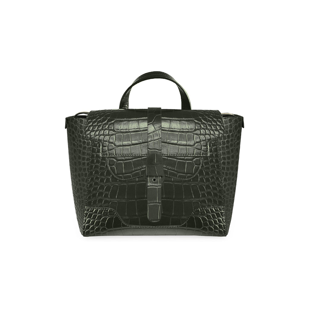 Senreve Maestra Womens Italian Leather Handbag in Dragon Forest Featured on WOMANBOSS
