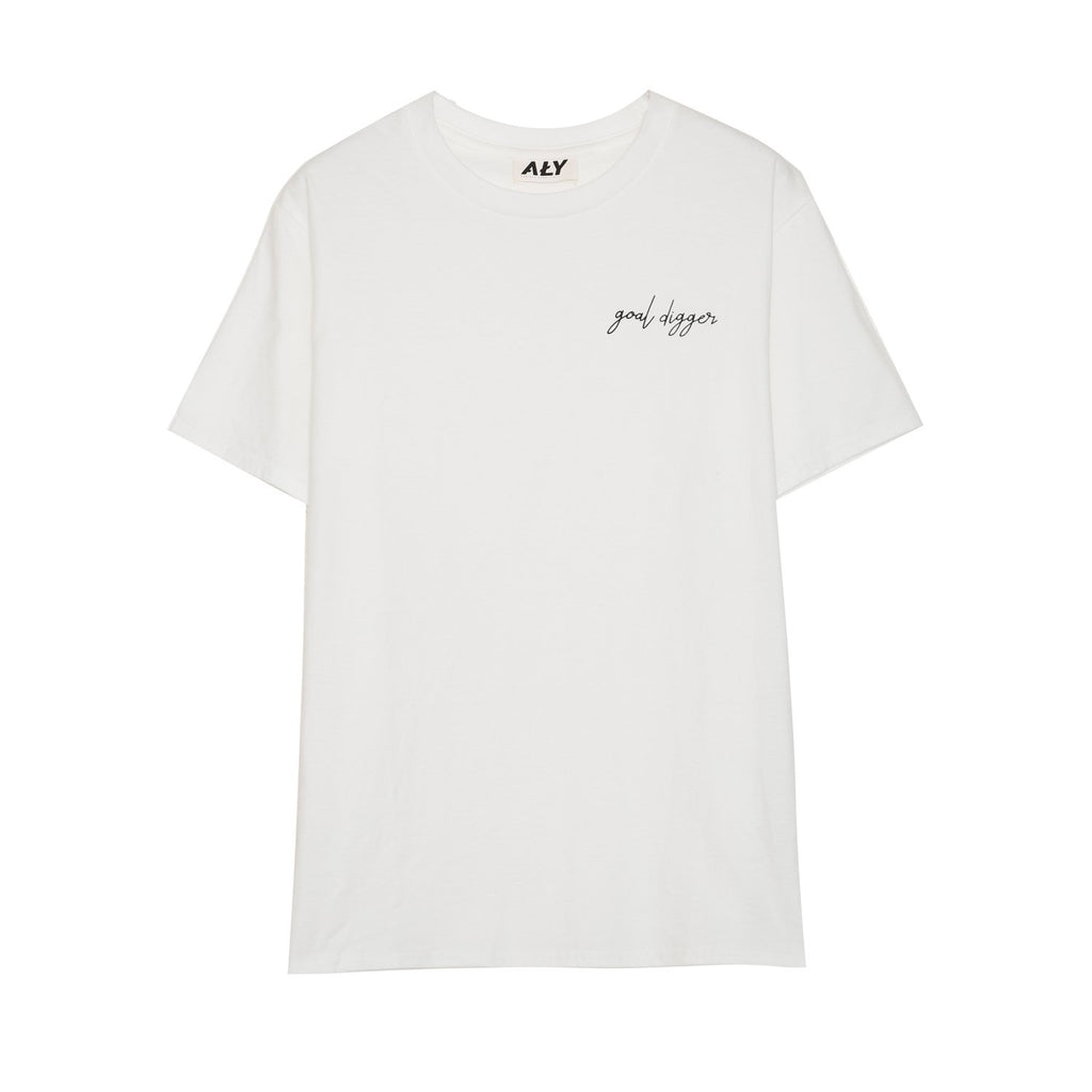 Goal Digger Tee in White