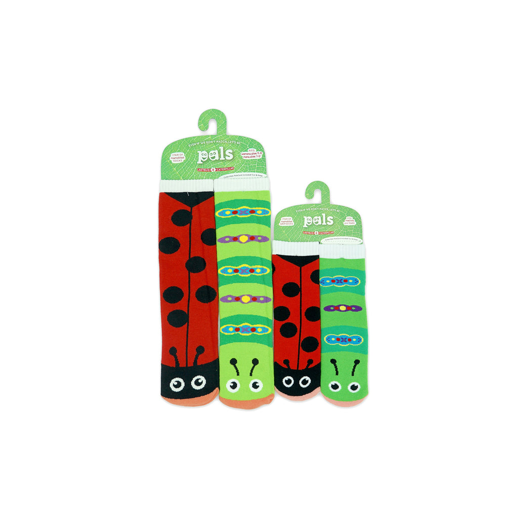Pals Socks Mommy n Me Ladybug and Caterpillar Mismatch Set Featured on WOMANBOSS