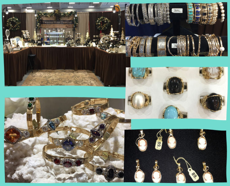 Twisted Wire Designs booth at shows