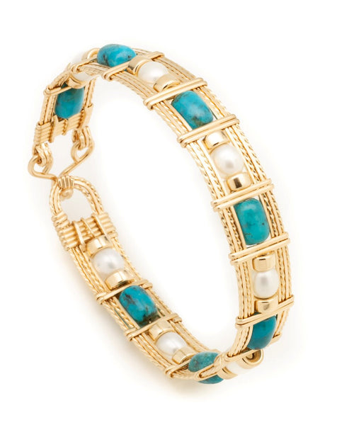 Twisted Wire Designs Artisan Handcrafted Wire Wrapped jewelry; earrings bracelets pendants 14k gold sterling silver gemstone turquoise