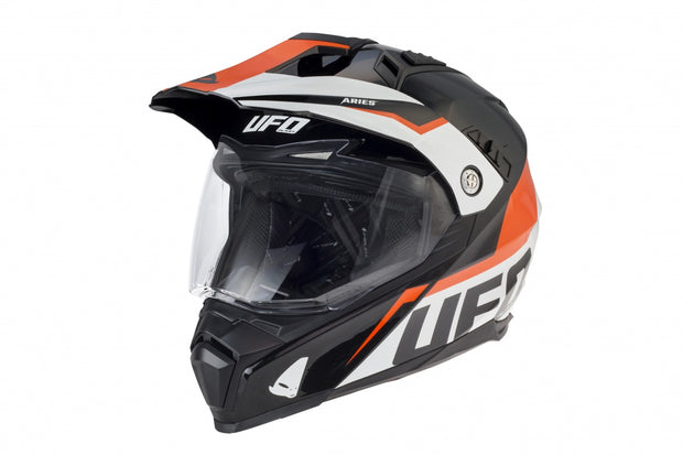 CASCO MOTOCROSS ENDURO ARIES NERO E ARANCIONE