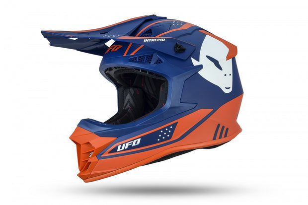 CASCO MOTOCROSS INTREPID BLU E ARANCIONE
