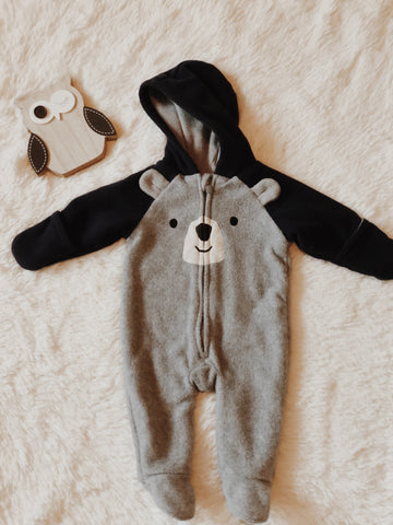 snuggly bear baby suit