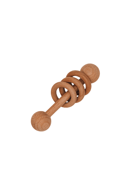 Wooden Baby Rattle Toy - B.BabyCo