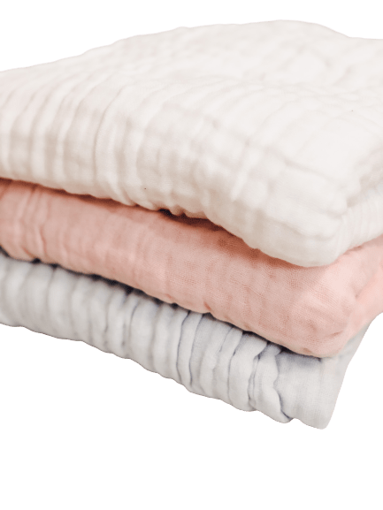 white,pink and blue swaddles
