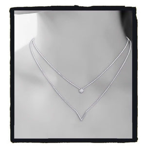 collier argent double rang