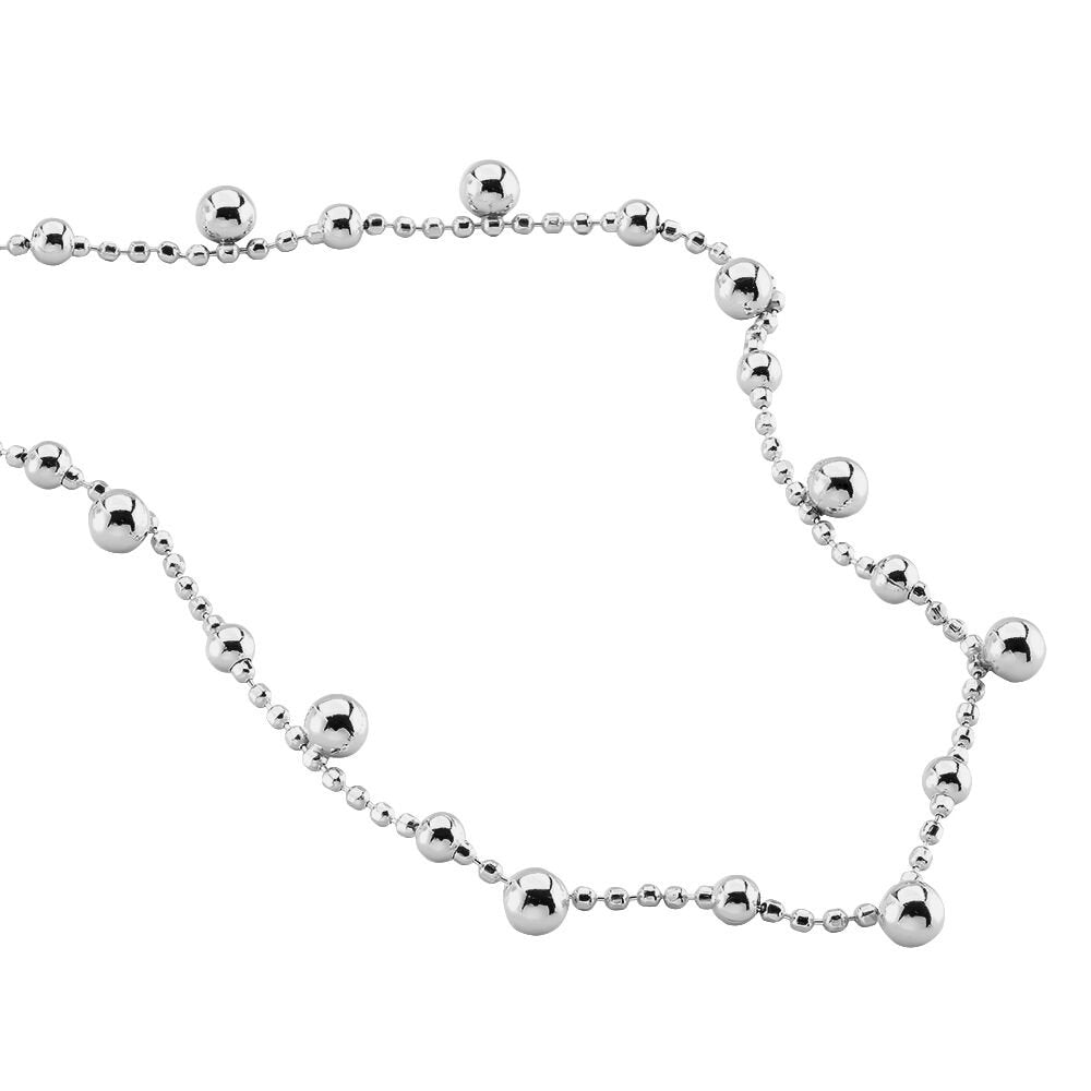 collier argent pampille