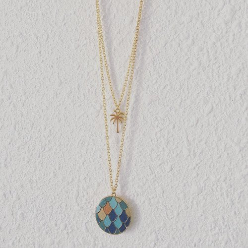 collier multirang turquoise