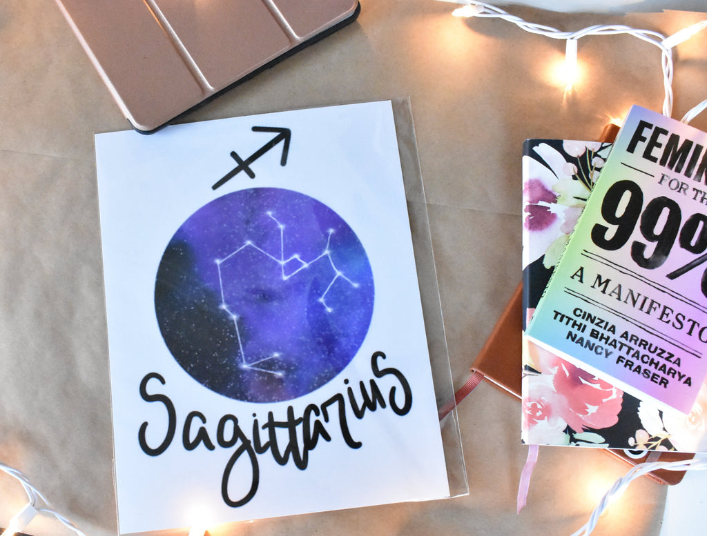 Zodiac galaxy sign with constellation art prints, procreate watercolor galaxy, iPad art prints