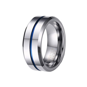 tungsten, Mykonos - Mens Rings and Wedding Bands by Lox and Lasso™️