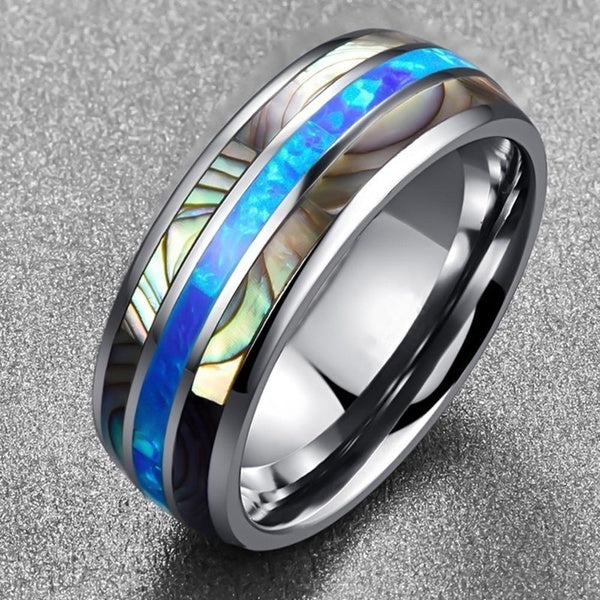 tungsten, Santorini - Mens Rings and Wedding Bands by Lox and Lasso™️