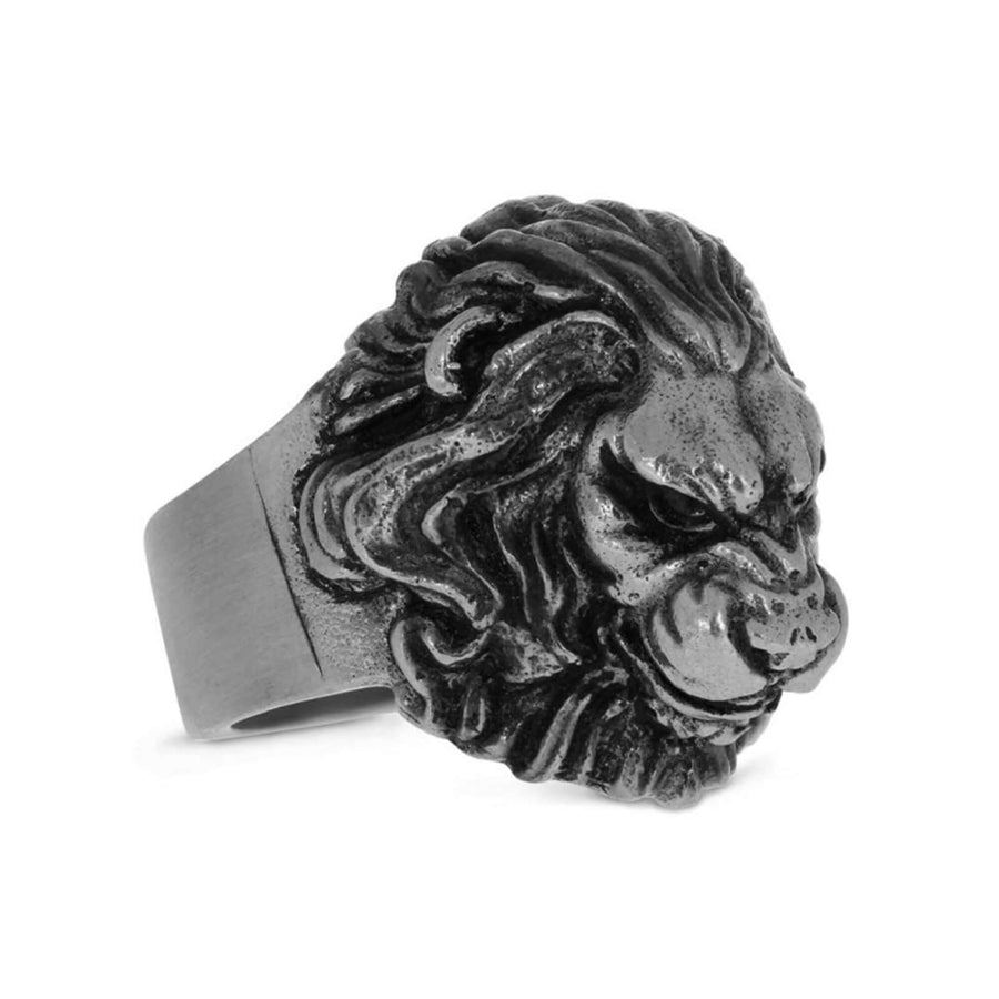 rings, Angry Lion Ring - Mens Rings and Wedding Bands by Lox and Lasso™️