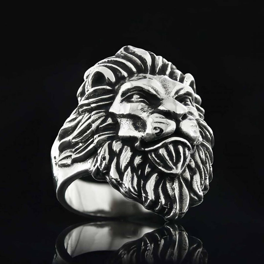 rings, Lion Silver Ring - Mens Rings and Wedding Bands by Lox and Lasso™️