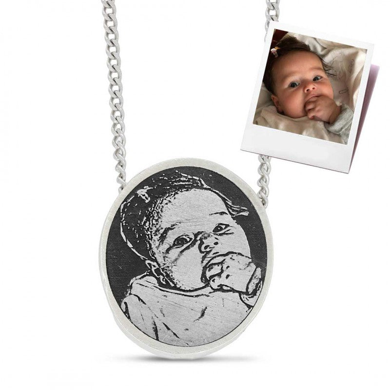 Pendants, Baby Photo Pendant - Mens Rings and Wedding Bands by Lox and Lasso™️