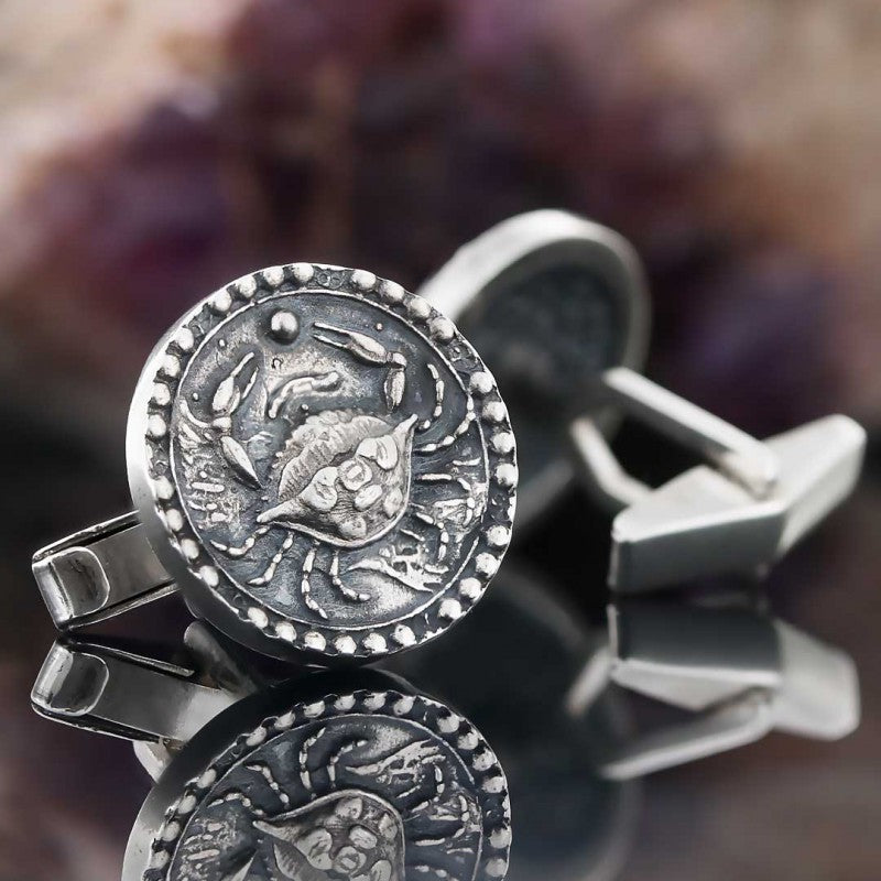 Cufflinks, Cancer Zodiac Cufflinks - Mens Rings and Wedding Bands by Lox and Lasso™️