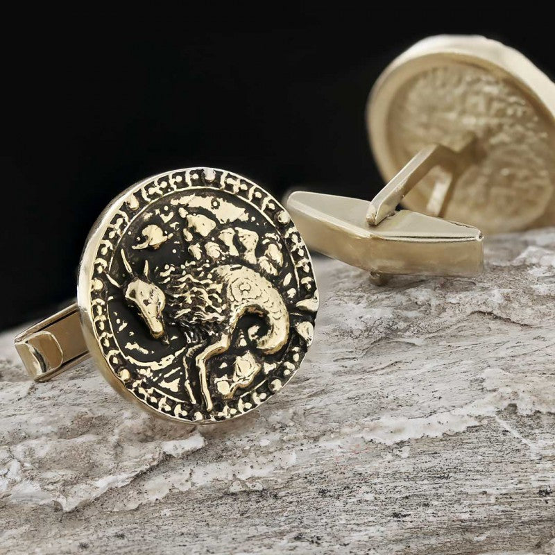 Cufflinks, Capricorn Zodiac Cufflinks - Mens Rings and Wedding Bands by Lox and Lasso™️