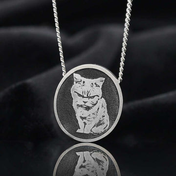 Pendants, Cat Photo Pendant - Mens Rings and Wedding Bands by Lox and Lasso™️