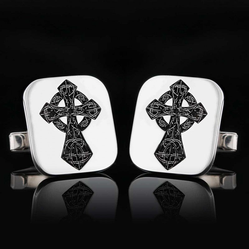 Cufflinks, Cross Christian Cufflink - Mens Rings and Wedding Bands by Lox and Lasso™️