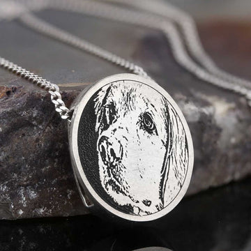 Pendants, Dog Photo Pendant - Mens Rings and Wedding Bands by Lox and Lasso™️