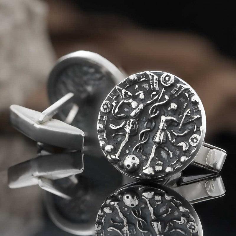 Cufflinks, Gemini Zodiac Cufflinks - Mens Rings and Wedding Bands by Lox and Lasso™️